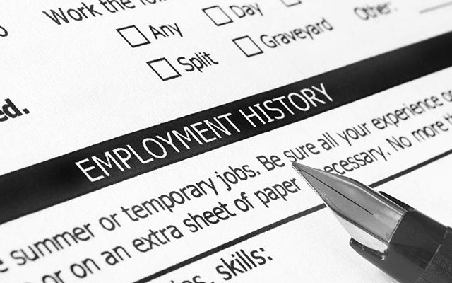 Obtain proof of employment history